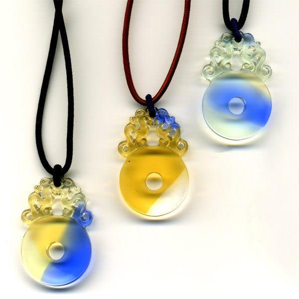 鹿港窯~開運古法水晶琉璃項鍊~古銅 附精美包裝◆免運費送到家