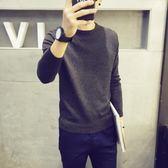 冬季毛衣男韓版潮流純色針織衫圓領秋季線衣男士加絨加厚長袖毛衫
