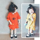 童裝女童連帽洋裝秋裝新款兒童長袖寬鬆連帽T恤裙 都市韓衣