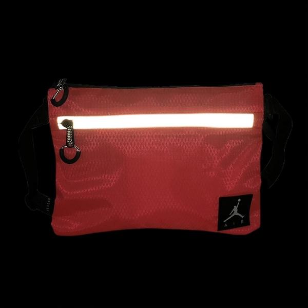 Nike 斜背包 Air Jordan Shoulder Bag 橘 黑 銀 男女款 喬丹 反光 螢光色 運動休閒 【ACS】 JD2123010GS-002