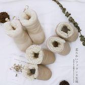 (尾牙交換禮物)創意 嬰兒棉鞋套保暖秋冬季新生幼兒小鞋子初生寶寶加絨加厚冬天護腳套