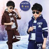 男童秋冬裝 三件套裝 馬甲+長褲+衛衣 中小童冬款衣服 小男孩寶寶套裝 兒童裝 加絨加厚三件套