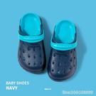 兒童洞洞鞋 兒童拖鞋中大童男童8洞洞鞋9夏季10防滑底12歲中童男孩女家居室內 城市科技