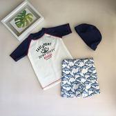 聖誕好物85折 韓國兒童泳衣男童鯊魚泳褲套裝男孩小童防曬游泳衣中大童韓版寶寶