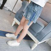女童牛仔短褲2019新款韓版破洞夏季女孩寶寶時尚薄款外穿熱褲子潮