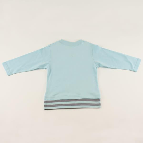 【愛的世界】純棉長袖印圖上衣-水藍/4~6歲-台灣製- ★秋冬上著 最後出清