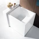 【麗室衛浴】BATHTUB WORLD  LS-709 小空間坐缸 壓克力造型獨立缸 一體成型無邊縫 88*78*H78CM