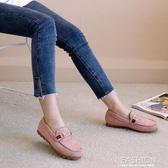 春夏新款韓版百搭平底鞋女舒適媽媽鞋社會豆豆鞋護士鞋孕婦鞋-ifashion