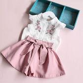 童女童套潮衣兒童韓版洋氣時髦中小童兩件套吾本良品