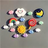 卡通創意立體軟磁貼軟膠彩虹云朵照片冰箱貼 磁貼 早教帖一套