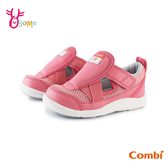 COMBI童鞋 寶寶鞋 女童機能涼鞋 學步鞋 CORE-S 魔鬼氈 護趾涼鞋 包頭涼鞋 速乾 A1901#粉紅◆奧森