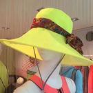 SUNSOUL/HOII/后益-花漾法式優雅圓筒帽 UPF50+ 黃光