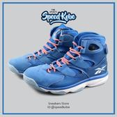 REEBOK SHAQ ATTAQ IV 4 俠客 O'NEAL 藍白 潑墨底 籃球鞋 # M43368 ☆SP☆