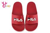FILA 拖鞋 成人女款 經典一片托 全防水 運動拖鞋 H5914#紅色◆OSOME奧森鞋業