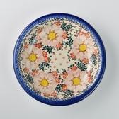 波蘭陶 映雪紅梅系列 圓形深餐盤 26cm 波蘭手工製