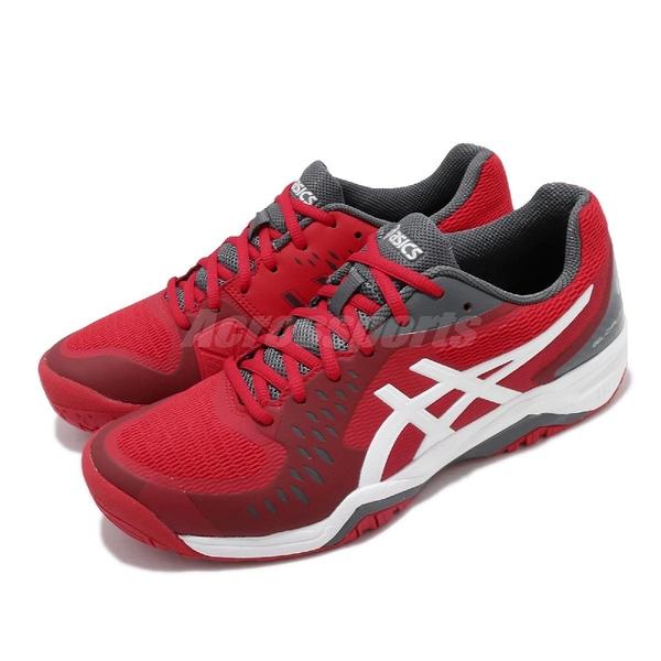 Asics 網球鞋 Gel-Challenger 12 紅 白 女鞋 網球專用 運動鞋【PUMP306】 1041A045603