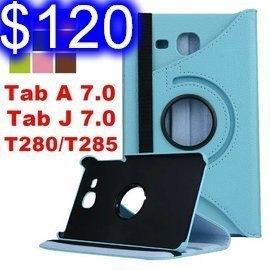 三星 Tab J 7.0/Tab A 7.0 T280/T285 平板旋轉支架保護套 荔枝紋保護殼 側翻皮套 H-20