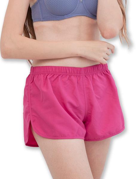 運動休閒短褲鬆緊防水快乾-桃紅-波曼妮亞-內衣 5200190