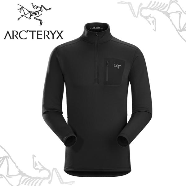 【ARC TERYX 始祖鳥 RHO AR 刷毛內層套頭衫《黑》】11272/高領長袖/半門襟