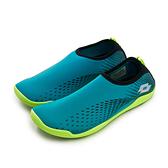 LIKA夢 LOTTO 多用途戶外休閒運動溯溪機能水鞋 AQUWEAR系列 藍綠 0395 附收納袋 男