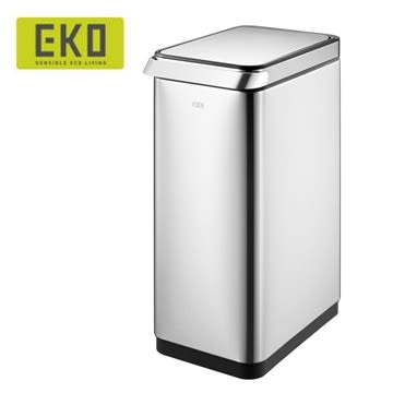 EKO 靈觸觸控靜音不鏽鋼垃圾桶 30L 大容量 彈壓式超便利