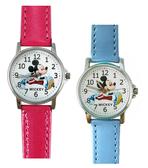 【卡漫城】 出清 米奇 皮革 卡通錶 二色選一 跨大步 ㊣版 Mickey 米老鼠 兒童錶 手錶 女錶