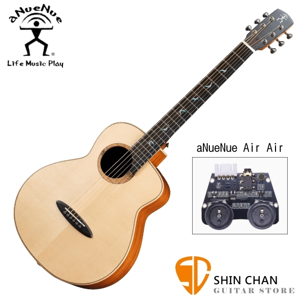 aNueNue MB100E 雲杉木面板+桃花心木側背板 36吋 全單板 可插電 民謠旅行吉他 鳥吉他 附多樣配件