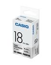 CASIO 標籤機專用色帶-18mm【銀底黑字XR-18SR1】