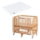 【預購-預計7月底到貨】日本 farska 童趣森林5合1嬰兒床(小床)+airclean 3D透氣輕洗二用式床墊-小