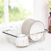 水槽瀝水架廚房不銹鋼晾放碗架家用水槽置物架洗碗池瀝水架瀝水籃YYS 易家樂小鋪