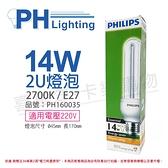 PHILIPS飛利浦 Essential 2U 14W E27 220V 827 省電燈泡_ PH160035
