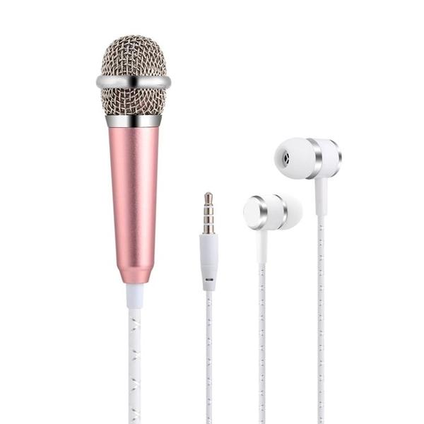 迷你手機麥克風電容麥蘋果安卓通用自帶耳機一體專用直播設備套裝 潮流前線