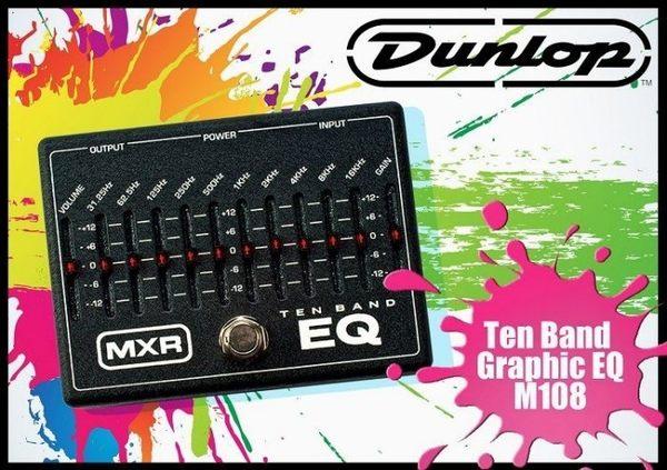 【小麥老師 樂器館】Dunlop MXR M-108 M108 Ten Band Graphic EQ 等化器 效果器