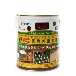 日本 ASAHIPEN 室內外防虫防霉 紅酒 護木漆 1.6L 日製