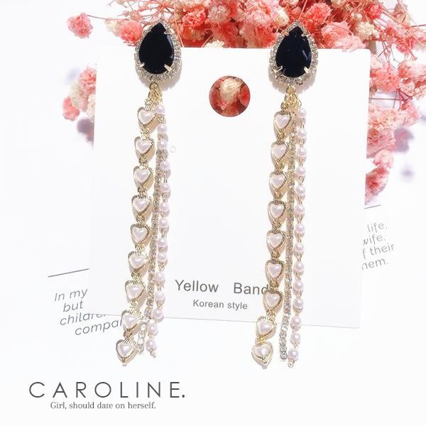 《Caroline》★韓國熱賣造型時尚 閃人耀眼水鑽耳環70585
