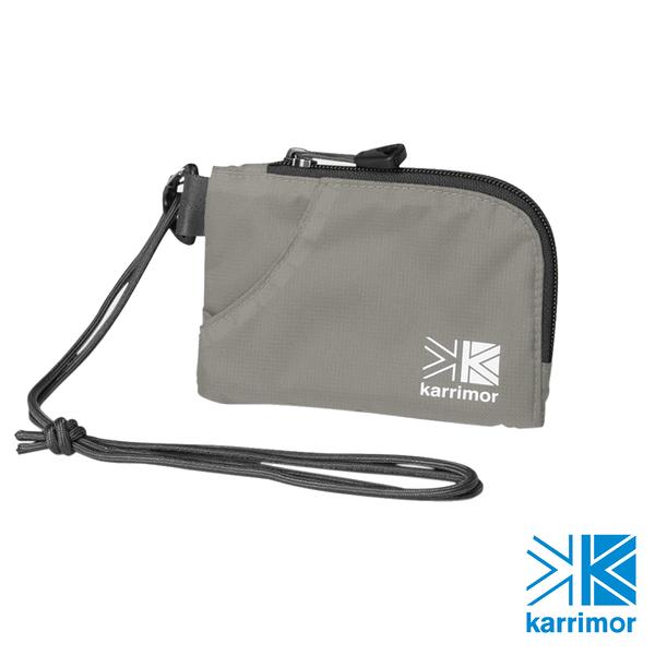 日系[ Karrimor ] trek carry team purse 隨身掛袋 銀