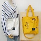 帆布包斜背包時尚加厚帆布包女側背斜背包大容量學生 愛麗絲精品