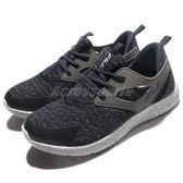 FILA 慢跑鞋 J903Q 低筒 襪套式 深藍 白 運動鞋 潑墨 基本款 男鞋【PUMP306】 1J903Q343
