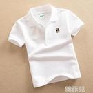 女童短袖上衣 純棉兒童短袖T恤白色中大童裝女童男童夏裝新款背心寶寶POLO襯衫 韓菲兒