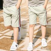 兒童短褲外穿夏季童裝男童七分褲中大童寬鬆中褲純棉薄款五分褲子『CR水晶鞋坊』