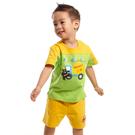 【愛的世界】純棉短袖熊與車印圖套裝/6個月-台灣製-  ---春夏套裝 夏出清