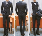 找到自己品牌 韓國男 四件式西裝外套 修...