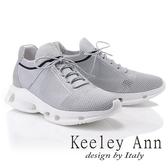 ★2019春夏★Keeley Ann我的日常生活 飛織水鑽襪子休閒鞋(灰色) -Ann系列