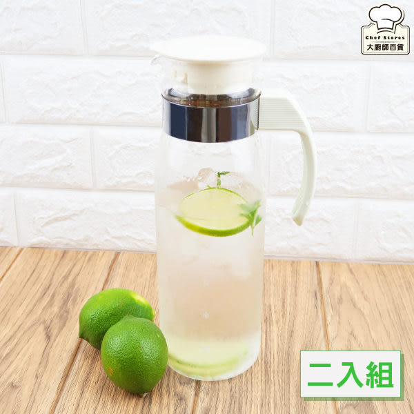 HARIO耐熱玻璃冷水壺1.4L(二入組)日本製出水口防滴漏-大廚師百貨