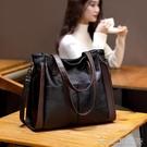 手提包 大容量真皮羊皮軟皮大包包女新款潮手提包單肩女包斜背包時尚 【618特惠】