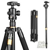 Q222單眼相機三腳架便攜微單攝影攝像手機支架三角架雲台CY 自由角落