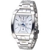 ALBA 決戰未來三眼時尚計時錶-銀白(AF8D59X1)