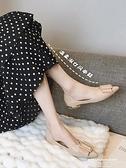 尖頭鞋 尖頭單鞋夏季女2021新款春款配裙子平底淺口軟底鞋子豆豆鞋瓢鞋夏 【618 狂歡】