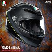 [安信騎士] 義大利 AGV K-6 彩繪 MINIMAL 灰黑黃 全罩 超輕量 安全帽 亞洲版 K6