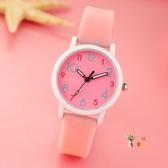 兒童手錶 時尚潮流兒童手錶女孩學生可愛男孩中小學生考試電子夜光石英錶 6色 雙12提前購